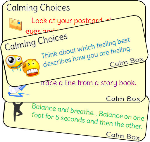calming choices cards