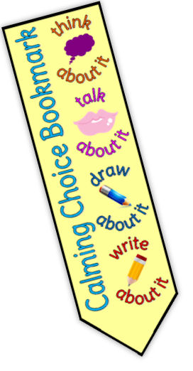 calming choices book mark