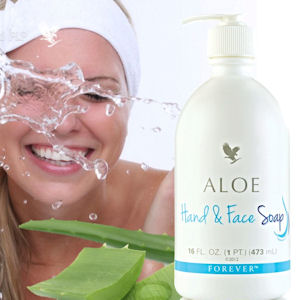 hand and face soap forever ultimate aloe vera